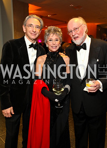 Medal of Arts recipients Michael Tilson Thomas, Rita Moreno, and John Williams. Photo by Tony Powell. Dinner for the 2009 Recipients of the Humanities Medal and the Medal of Arts. February 24, 2010