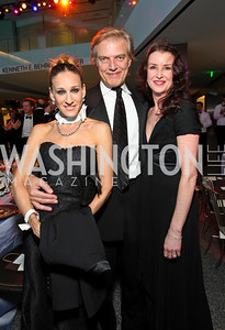 Sarah Jessica Parker, Peter Martins, Ballerina Darci Kistler. Photo by Tony Powell. Dinner in honor of the 2009 Recipients of the National Medal of Arts and the National Humanities Medal. Museum of American History. February 24, 2010