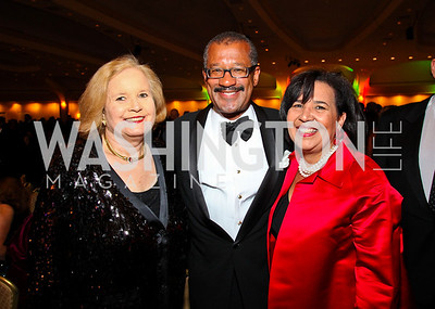 Photo by Tony Powell. Sharon Rockefeller, Dwight Bush and Antoinette Cook Bush. NIAF Gala. October 23, 2010