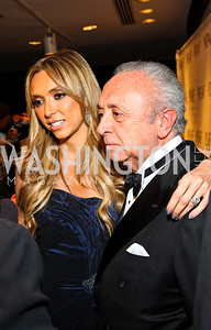 Photo by Tony Powell. Giuliana DePandi Rancic and father Eduardo DePandi. NIAF Gala. October 23, 2010