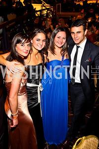 Photo by Tony Powell. Melissa and Marielle Vitti, Rachel Donofrio, Trent Calabretta. NIAF Gala. October 23, 2010