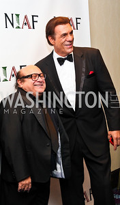 Photo by Tony Powell. Danny DeVito, Robert Davi. NIAF Gala. October 23, 2010