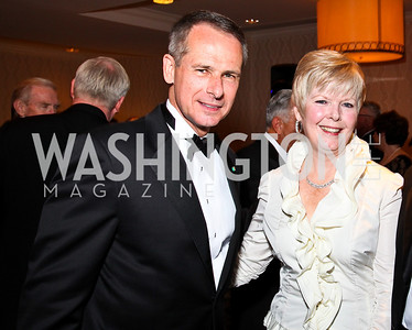 Photo by Tony Powell. General Peter Pace and Lynne Pace. NIAF Gala. October 23, 2010