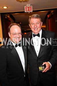 Photo by Tony Powell. Georgetown Univ. Pres. Jack DeGioia, USA Basketball Chairman Jerry Colangelo. NIAF Gala. October 23, 2010