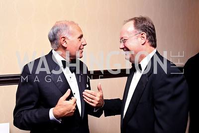 Photo by Tony Powell. Joe DelRaso, Georgetown Univ. Pres. Jack DeGioia. NIAF Gala. October 23, 2010