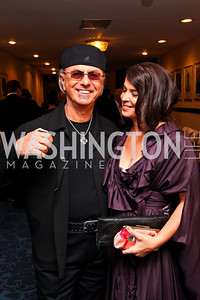Photo by Tony Powell. Singer Dion, actress Annabella Sciorra. NIAF Gala. October 23, 2010