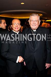 Photo by Tony Powell. Fr. Mario Sprizzi, Archbishop Pietro Sambi. NIAF Gala. October 23, 2010