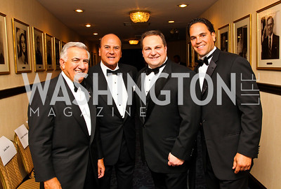 Photo by Tony Powell. Paul Chiapparone, former MLB player and manager Ken Aspromonte, NIAF board member Michael Zampardi, 12-Time MLB All-Star Mike Piazza. NIAF Gala. October 23, 2010