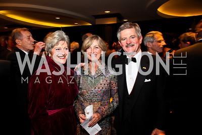 Photo by Tony Powell. Martha-Ann Alito, Suzanne and Jim Nicholson. NIAF Gala. October 23, 2010