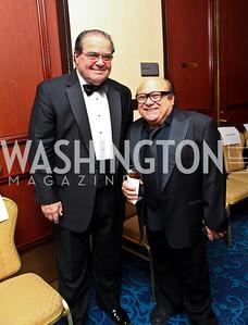 Photo by Tony Powell. Justice Antonin Scalia, Danny DeVito. NIAF Gala. October 23, 2010