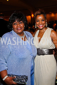 Photo by Tony Powell. Chandrai Saunders, Aisha Davis. NIAF Gala. October 23, 2010