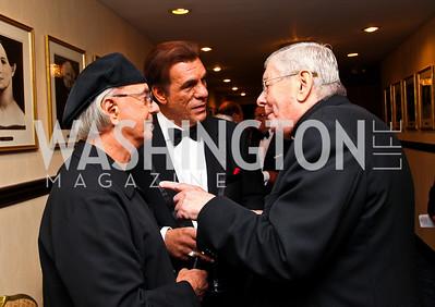 Photo by Tony Powell. Dion, actor Robert Davi, Archbishop Pietro Sambi. NIAF Gala. October 23, 2010