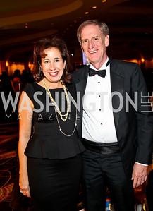 Photo by Tony Powell. NIAF director of public relations Elissa Ruffino, John Ruffino. NIAF Gala. October 23, 2010