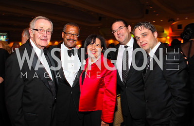 Photo by Tony Powell. Univision's Douglas Kranwinkle, Dwight Bush and Antoinette Cook Bush,  Howard Ellin, Daniel Dusek. NIAF Gala. October 23, 2010