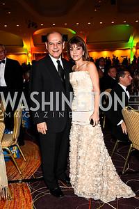 Photo by Tony Powell. Cesar Alvarez, Judge Cristina Pereyra. NIAF Gala. October 23, 2010