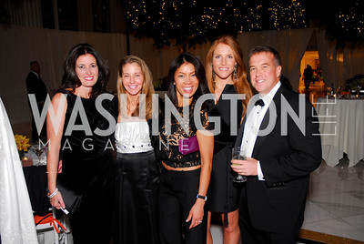 Diane Brown, Allison O'Connor, Mai Abdo, Sharon Dougherty, Huck O'Connor, National Children's Museum 2010 Gala, December 2, 2010, Kyle Samperton