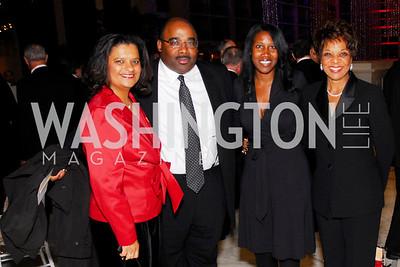 Lauren Dugas Glover, Ron Russell, Nichelle Schoultz, Yvette Lewis, National Children's Museum 2010 Gala, December 2, 2010, Kyle Samperton
