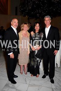 Ross Hechinger, Michelle Green, Susan Hechinger, John Green, National Children's Museum 2010 Gala, December 2, 2010, Kyle Samperton