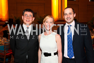Howard Yuwen, Deanna Peterson, Jonathan Poole. Photo by Tony Powell. NORD Gala. Mellon Auditorium. May 18, 2010