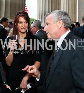 Jennifer Wright, Jim Cloyd. Photo by Tony Powell. NORD Gala. Mellon Auditorium. May 18, 2010