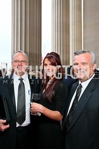 John Stone, Jennifer Wright, Jim Cloyd. Photo by Tony Powell. NORD Gala. Mellon Auditorium. May 18, 2010