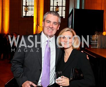Gareth Hwyn, Allison Widlitz. Photo by Tony Powell. NORD Gala. Mellon Auditorium. May 18, 2010