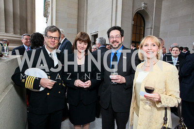 Capt. Tim Cote, Home Improvement's Patricia Richardson, Richard Zyne, Janet Edmunson. Photo by Tony Powell. NORD Gala. Mellon Auditorium. May 18, 2010