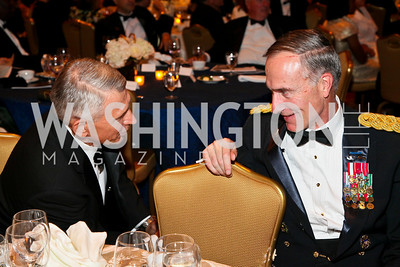 Photo by Tony Powell. Night of Heroes Gala. Ritz Carlton. June 3, 2010. Lt. Gen. Paul Mikolashek, Lt. Gen. David Huntoon,