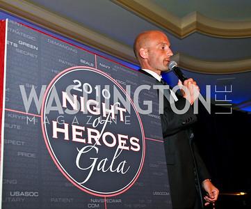 Photo by Tony Powell. Night of Heroes Gala. Ritz Carlton. June 3, 2010. Live Auctioneer Jason Lamoreaux