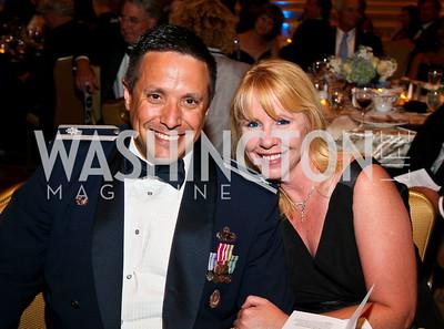 Photo by Tony Powell. Night of Heroes Gala. Ritz Carlton. June 3, 2010. Lt. Col. Tony and Jennifer Hernandez