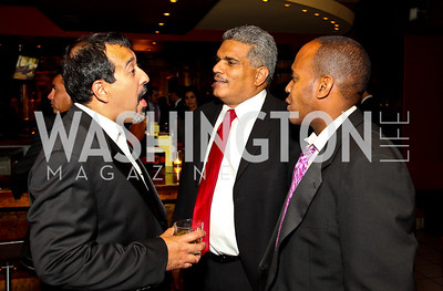 Photo by Tony Powell. Leo Munoz, Gustavo Paredes, Jimmy Williams. Noche de Gala 2010. Mayflower Hotel. September 14, 2010