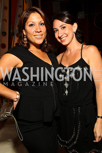 Photo by Tony Powell. Norelie Garcia, Hilary Ashford. Noche de Gala 2010. Mayflower Hotel. September 14, 2010