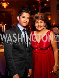 Photo by Tony Powell. Eric Balderas, Janet Murguia. Noche de Gala 2010. Mayflower Hotel. September 14, 2010