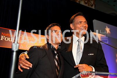 Photo by Tony Powell. Esai Morales, Jimmy Smits. Noche de Gala 2010. Mayflower Hotel. September 14, 2010