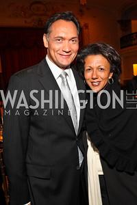 Photo by Tony Powell. Jimmy Smits, Debra Langford. Noche de Gala 2010. Mayflower Hotel. September 14, 2010