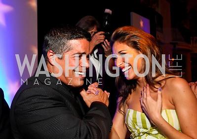 Photo by Tony Powell. Esai Morales, Giselle Itié. Noche de Gala 2010. Mayflower Hotel. September 14, 2010
