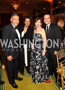 Photo by Tony Powell. Felix Sanchez, Debra Langford, Adrienne Arsht, Jorge Plasencia. Noche de Gala 2010. Mayflower Hotel. September 14, 2010