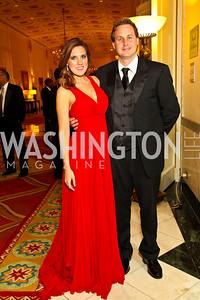 Photo by Tony Powell. Ashley and Michael Johnson. Noche de Gala 2010. Mayflower Hotel. September 14, 2010