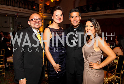 Photo by Tony Powell. Larry Gonzalez, Raquel, Esai Morales, Rosa Mendoza. Noche de Gala 2010. Mayflower Hotel. September 14, 2010