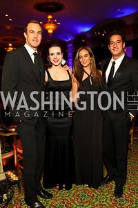 Photo by Tony Powell. Jonas and Carolina Furukrona, Erika Gutierrez, Jordan Rabin. Noche de Gala 2010. Mayflower Hotel. September 14, 2010
