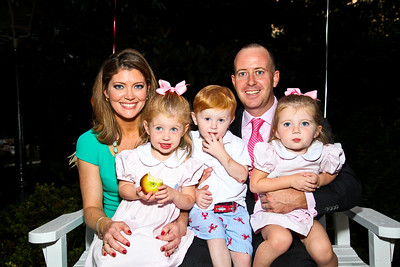 """Norah O'Donnell, Grace, Henry, Geoff, and Riley Tracy. Photo by Tony Powell. """"Baby Love"""" Book Party. Grenham/Zevnik residence. September 28, 2010"""