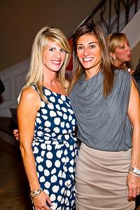 """Maureen Curley, Karen Donatelli. Photo by Tony Powell. """"Baby Love"""" Book Party. Grenham/Zevnik residence. September 28, 2010"""