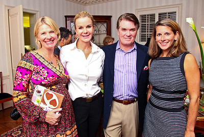 "Kristin Solheim, Susanna and Jack Quinn, Elizabeth Powell. Photo by Tony Powell. ""Baby Love"" Book Party. Grenham/Zevnik residence. September 28, 2010"
