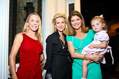 "Cindy Jones, Mary Haft, Norah O'Donnell, Riley Tracy. Photo by Tony Powell. ""Baby Love"" Book Party. Grenham/Zevnik residence. September 28, 2010"