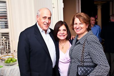 "Dan and Rhoda Glickman, Susan Sher. Photo by Tony Powell. ""Baby Love"" Book Party. Grenham/Zevnik residence. September 28, 2010"