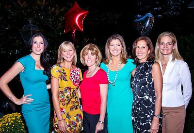"""Amy Baier, Jean-Marie Fernandez, Ginny Grenham, Norah O'Donnell, Beth Dozoretz, Kristen Olson. Photo by Tony Powell. """"Baby Love"""" Book Party. Grenham/Zevnik residence. September 28, 2010"""