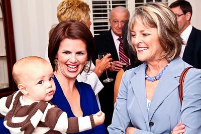 "Carter Wooters, Stacy Kerr, Rita Braver. Photo by Tony Powell. ""Baby Love"" Book Party. Grenham/Zevnik residence. September 28, 2010"