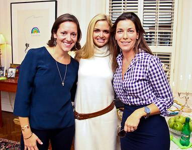 "Sarah Canova, Sharon Bradley, Sarah Guinan Nixon. Photo by Tony Powell. ""Baby Love"" Book Party. Grenham/Zevnik residence. September 28, 2010"