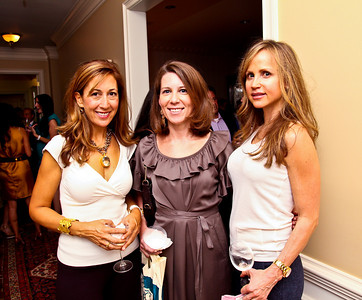 "Dina Mackney, Kimberly Holland, Jocelyn Greenan. Photo by Tony Powell. ""Baby Love"" Book Party. Grenham/Zevnik residence. September 28, 2010"