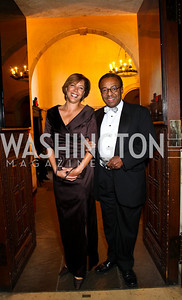 Photo by Tony Powell. Lisa and Clarence Page. PEN/Faulkner Gala. Folger Shakespeare Library. September 20, 2010
